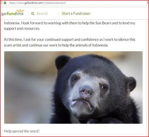 RR PROMISES TO HELP SUN BEARS WITH $