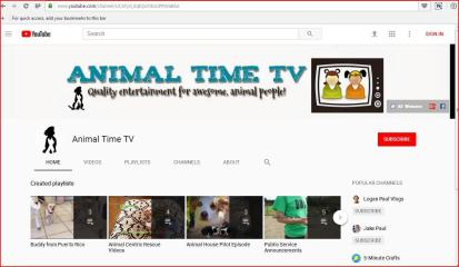 ANIMAL TIME TV QUALITY ENTERTAINMENT