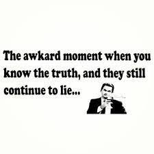 liar awkward