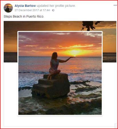 alycia at steps beach in puerto rico