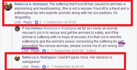 rr and poo trashing sybelle saying she is a fraud who exploits animals and poo pretending