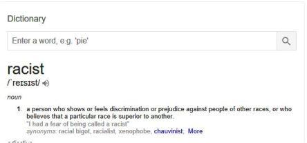 racist definition