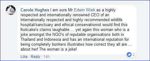 carole standing up for edwin