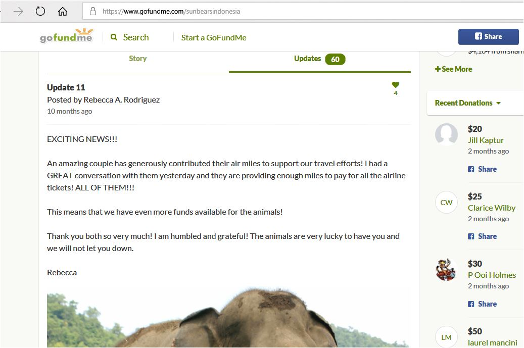 gfm 11 stating now there are even more funds available for the animals because air travel covered