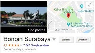 surabaya rated 4.1 on google reviews