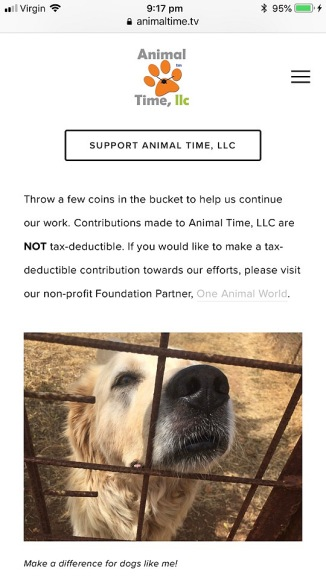 donate animal time tv or not for profit one animal world