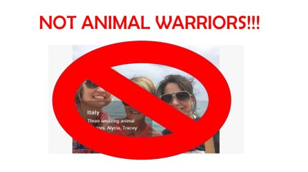 NOT ANIMAL WARRIORS!!!