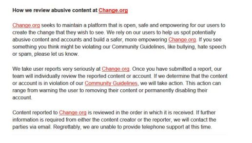 what change says about abusive content and hate speech