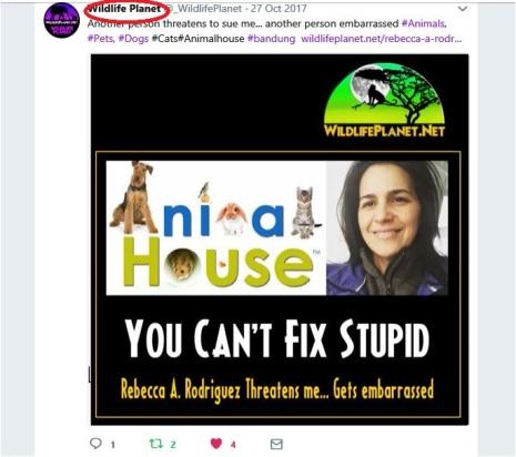 wildlifeplanet twitter rr also threatening to sue them