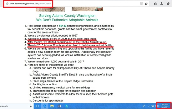 adams county about section on their web page no mention of rat and animal house