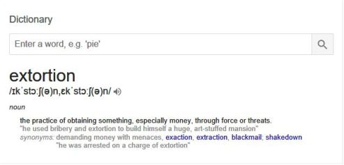 extortion definition