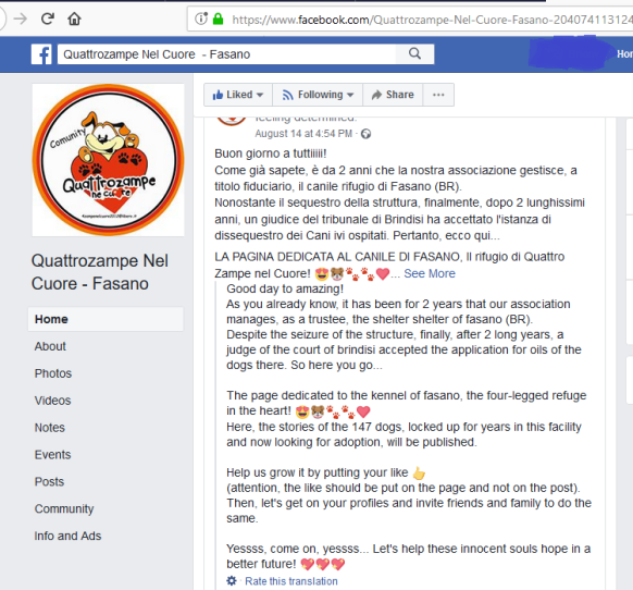 fasano support group update on 150 dogs per court ruling