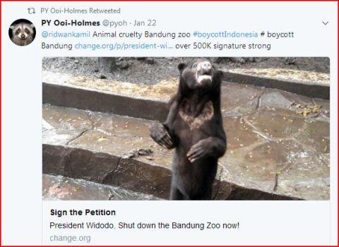 poo tweeting mayor to boycott bandung