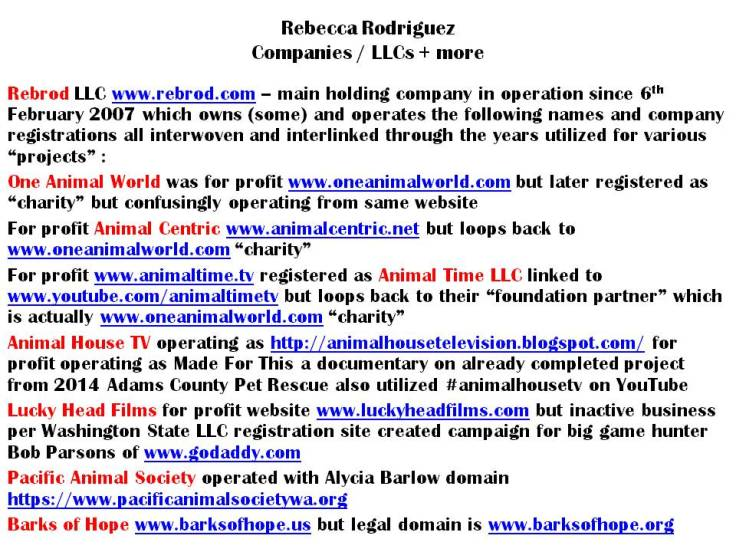february 2019 business names utilized by rebecca rodriguez